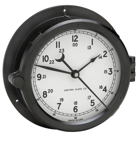 "Chelsea Patriot Deck Clock, 8.5"" White Dial - BellClocks.com"