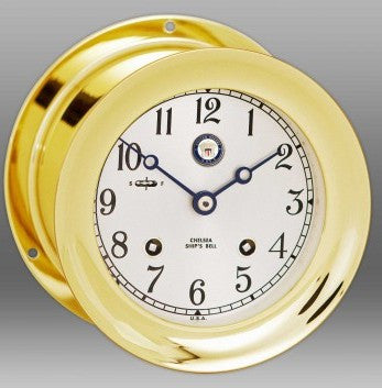 "Chelsea U S Navy Ship's Bell Clock, 4.5"" Brass - BellClocks.com"