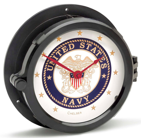 Chelsea U S Navy Patriot Deck Clock, Red Hands