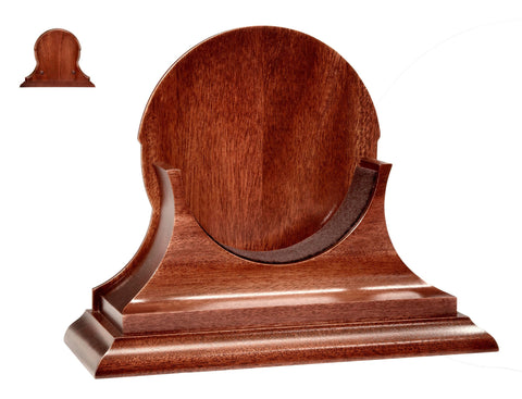 "Chelsea Clock 6"" Traditional Base (Mount) in Mahogany"