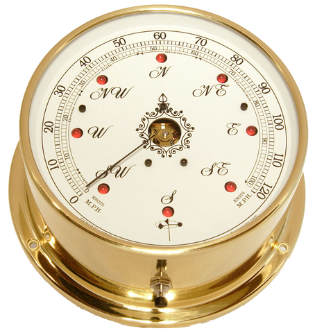 Downeaster Wind Speed and Direction with True Gust, White Dial - BellClocks.com