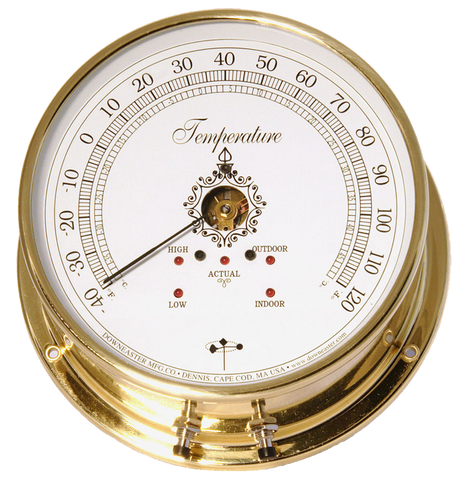 Downeaster Thermometer Indoor/Outdoor - Temperature Instrument, White Dial
