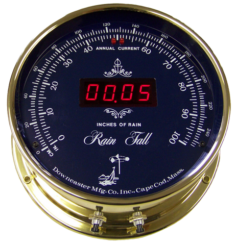 Downeaster Rain Gauge, Blue Dial - BellClocks.com
