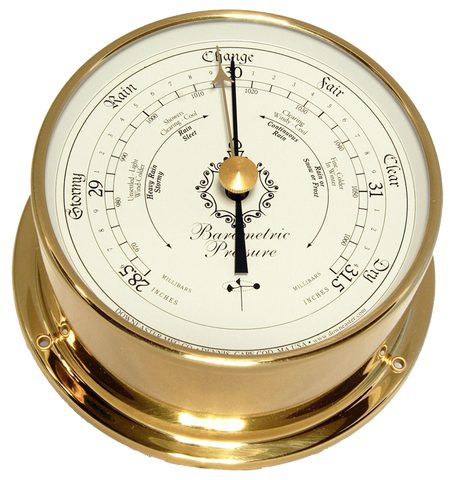 Downeaster Barometer, White Dial - BellClocks.com