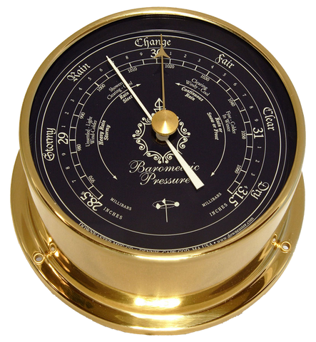 Downeaster Barometer, Blue Dial - BellClocks.com