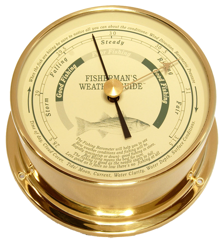 Downeaster Fishing Barometer, Saltwater - BellClocks.com