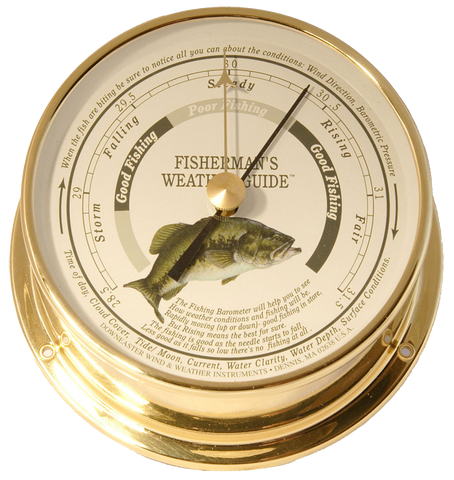 Downeaster Fishing Barometer, Freshwater - BellClocks.com