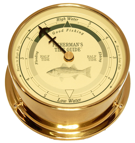 Downeaster Fishing Tide Clock, Saltwater - BellClocks.com