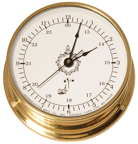 Downeaster Clock, White Dial - BellClocks.com