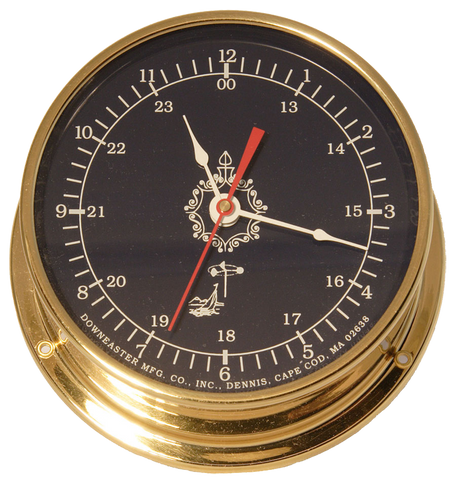Downeaster Clock, Blue Dial - BellClocks.com