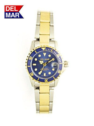 Del Mar Women's 200M Sport Watch, Two Tone, Blue Dial - BellClocks.com