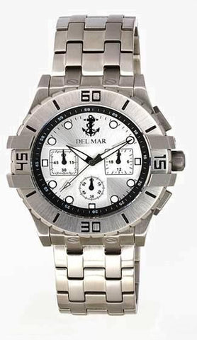 *NEW* - Del Mar Men's Anchor Dial Chronograph, White