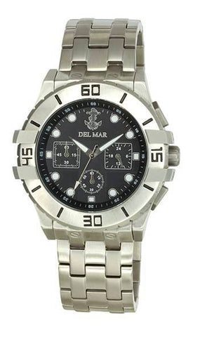 *NEW* - Del Mar Men's Anchor Dial Chronograph, Black