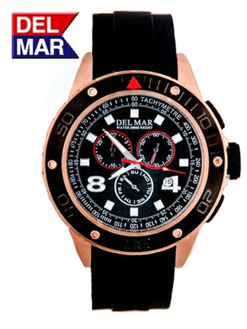 Del Mar Men's Rugged Sport Chronograph, Copper - BellClocks.com