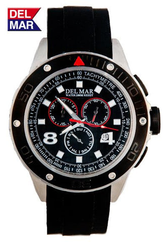 Del Mar Men's Rugged Sport Chronograph - BellClocks.com