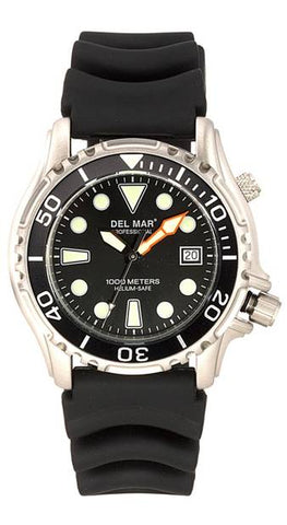 *NEW* - Del Mar Men's 1000M Professional Dive Watch, Black Dial