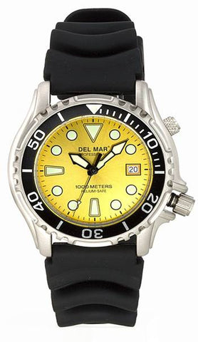 *NEW* - Del Mar Men's 1000M Professional Dive Watch, Yellow Dial