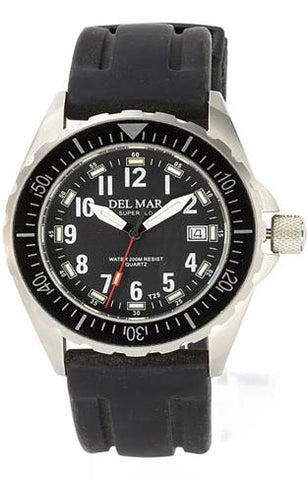 *NEW* - Del Mar Men's 200M SuperGlo Ultimate Sport Dive Watch, Rubber Strap