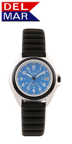 Del Mar Men's 200M Lite Aluminum Watch, Blue Dial - BellClocks.com
