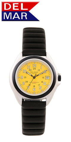 Del Mar Men's 200M Lite Aluminum Watch, Yellow Dial - BellClocks.com