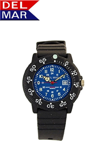 Del Mar Women's Dive 200 Blue Dial PU Watch - BellClocks.com
