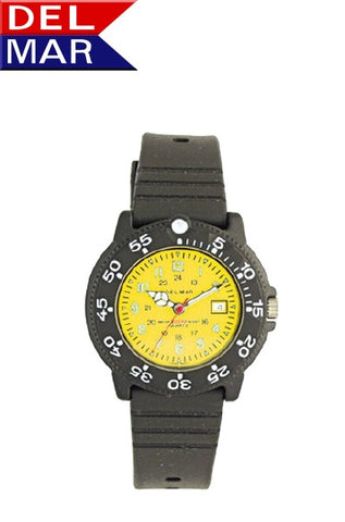 Del Mar Women's Dive 200 Yellow Dial PU Watch - BellClocks.com