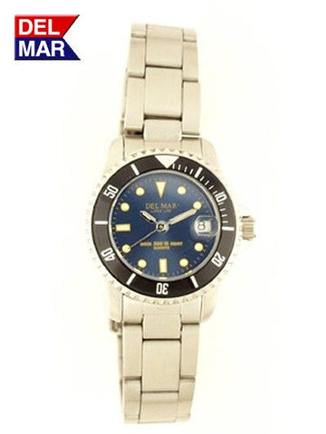Del Mar Women's 200M Sport Watch, Stainless Steel, Blue Dial - BellClocks.com