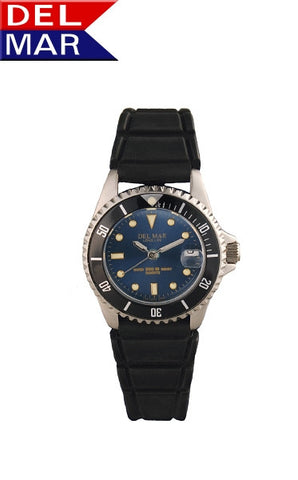 Del Mar Women's 200M Sportstrap Classic Dive Watch, Blue Dial - BellClocks.com