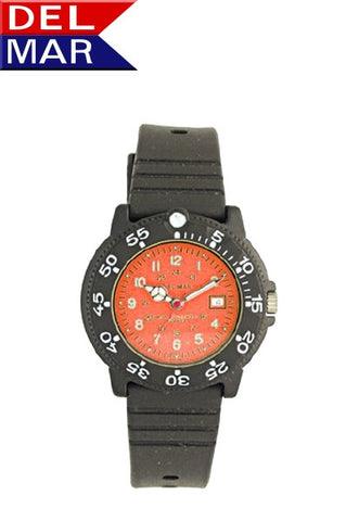 Del Mar Women's Dive 200 Orange Dial PU Watch - BellClocks.com