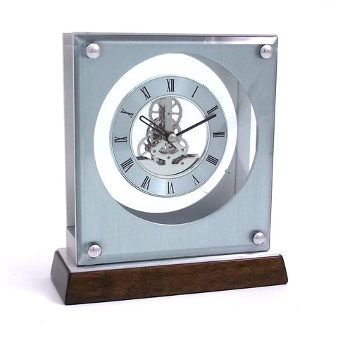 """Ani"" Skeleton Quartz Clock, Bey Berk CM678 - BellClocks.com"