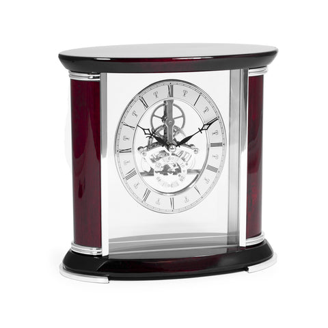 """Luxemburg"" Skeleton Quartz Clock, Bey Berk CM686 - BellClocks.com"