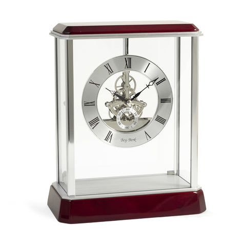 """Madrid"" Skeleton Quartz Clock, Bey Berk CM695 - BellClocks.com"