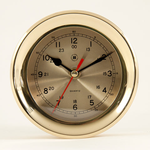 Brass Dial Clock, Bey Berk SQ507 - BellClocks.com