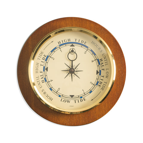 Tide Clock on Cherry Wood, Bey Berk WS077 - BellClocks.com