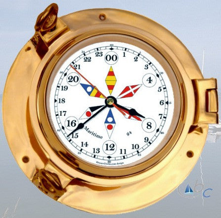 "Ocean Clocks 24 Hour Clock, 4.5"" Dial - BellClocks.com"