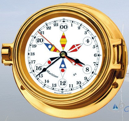 "Ocean Clocks 24 Hour Clock, 4"" Dial - BellClocks.com"