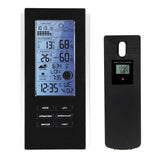 VKTECH Wireless Weather Station, Indoor Outdoor, Blue Digital Display with Forecast and Frost Alert