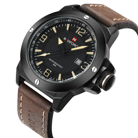 NAVIFORCE Men's Classic Military Style Watch, NF9077