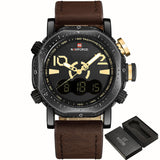 NAVIFORCE Men's Dual Display Sports Watch Chronograph, NF9094