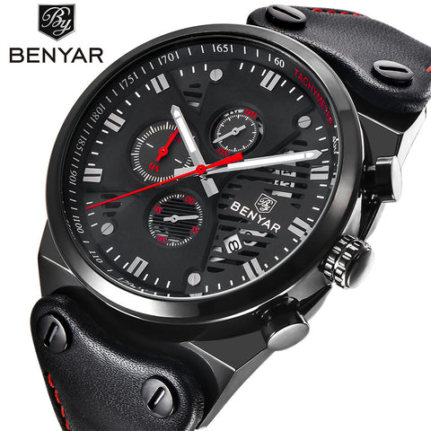 BENYAR Men's Military Style Chronograph Quartz Watch BY5110M