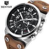 BENYAR Men's Military Style Field Chronograph Quartz Watch BY5112M