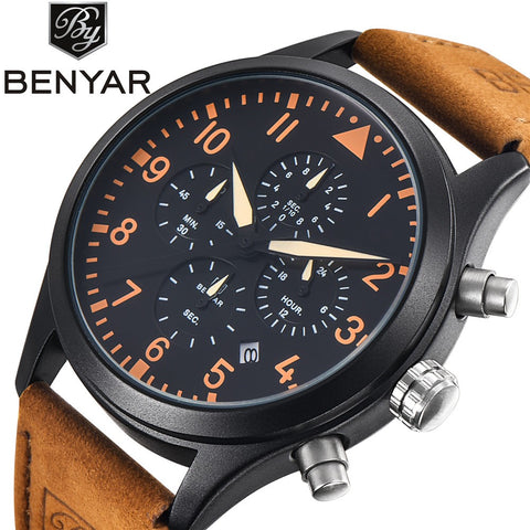 BENYAR Men's Quad Dial Sport Chronograph Watch BY5103M