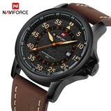 NAVIFORCE Men's 12/24 Hour Dial Military Style Sport Watch, NF9076