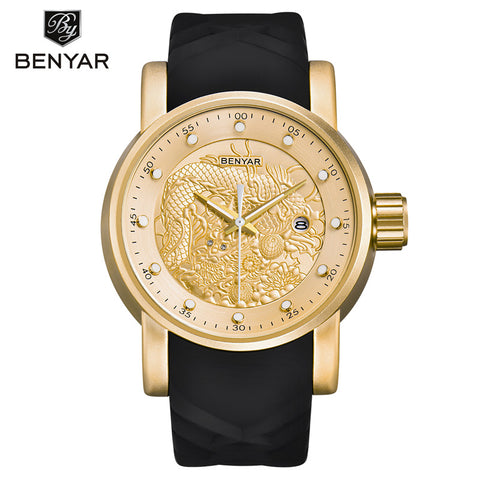 BENYAR Men's Chinese Zodiac Dragon Mens Quartz Watch BY5115