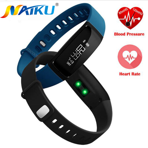Naiku V07 fitbit Style Fitness Smartband HR, BP, Sleep Tracker, Mileage