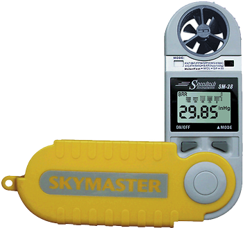 WeatherHawk Skymaster SM-28 Wind and Weather Meter - BellClocks.com