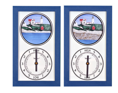 "Tidepieces Cape Neddick ""Nubble"" Light Tide Clock - BellClocks.com"