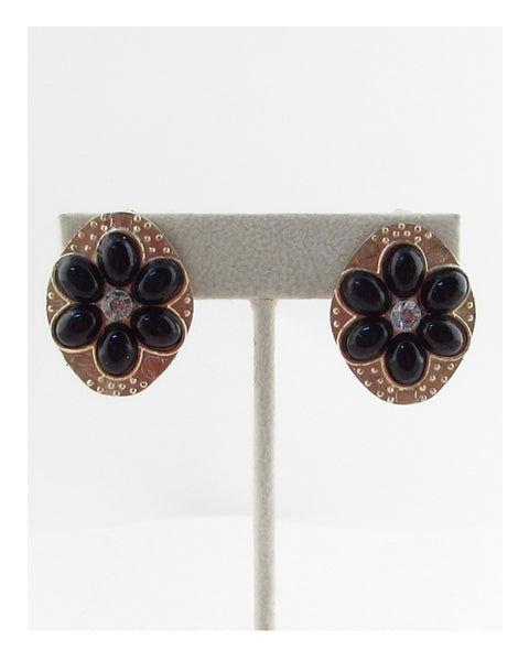 Faux stone Clip on earrings