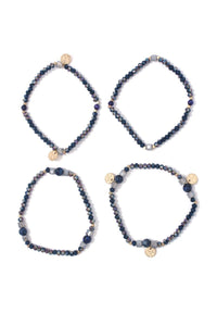 Beaded stretch bracelet set
