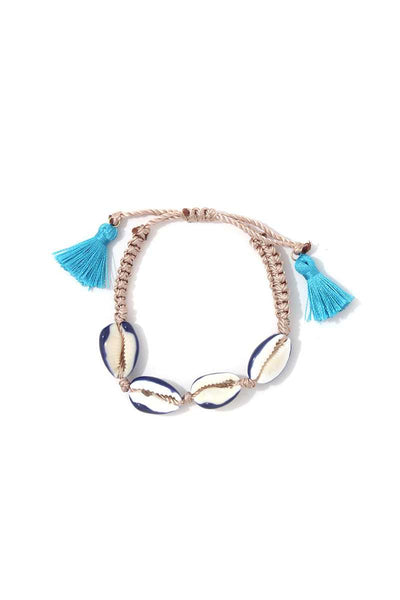 Cowrie Seashell Tassel Adjustable Bracelet